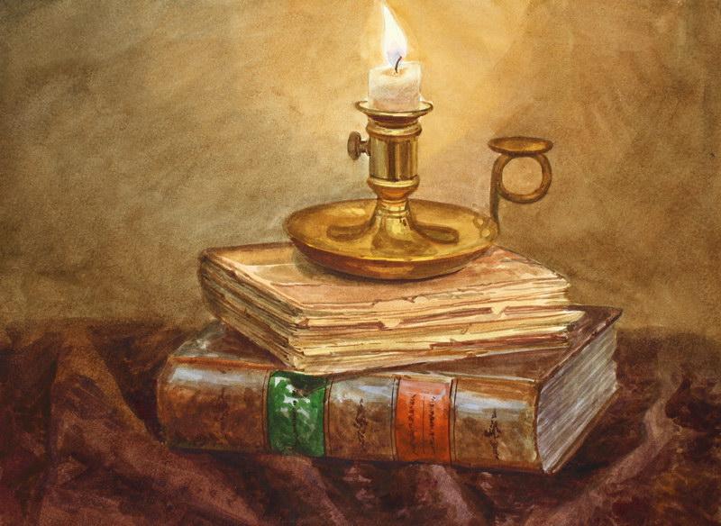 натюрморт свеча: